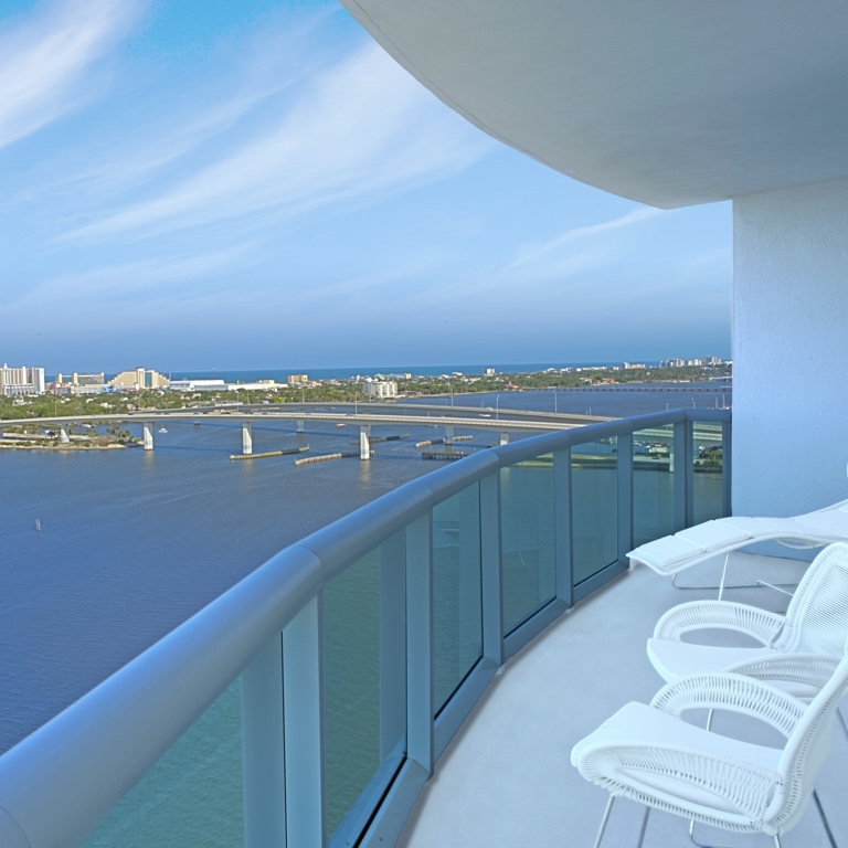 Balcony of Highrise Luxury Condo